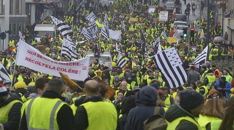 Syndicalistes Solidaires et mouvement des Gilets jaunes à Saint-Brieuc